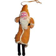 Father Christmas Cotton Batting Ornament with Papier Mache Face
