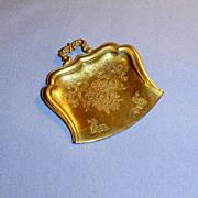 Embossed Large Gold Color Ormolu Dolls Dust Pan