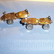 Old Adjustable Dolls Metal Roller Skates