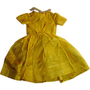 Early Yellow and Lace Trim Silk Doll Dress