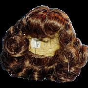 Vintage Size 7 Brunette Doll Wig