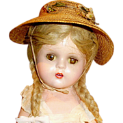 "SOLD 13"" Composition Madame Alexander McGuffey Ana Doll"