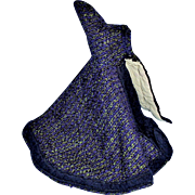 Antique Purple and Green Wool Tweed Hood Fashion Doll Cape