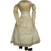 Antique Cloth Doll Body with Commercial Rubber Lower Legs