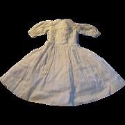 1890s Small Off White Cotton Shirtwaist Doll Dress