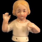 "2"" Antique Germany China Child Half Doll"