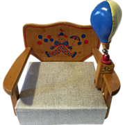 Vintage IRMI Child's Booster Chair and Toy Punching Bag