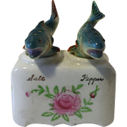 Vintage Fish Souvenir Nodders Salt and Pepper Shakers