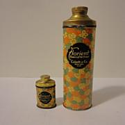 Two Antique Colgate Talcum Powder Tins
