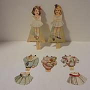 Antique 1895 Jayne's Dolls  Advertising Paper Dolls