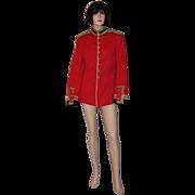 """Very Rare Men's, Antique (1910-1914) Red British, """"Colonel on the Staff"""" Single-Brea"""