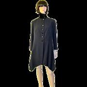 Exceptionally Elegant Edwardian Navy Coat with Velvet Collar