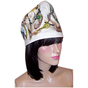 Fine White Woolen Toque with Integrated Felting Elements