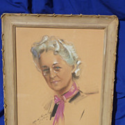 SOLD Pastel portrait of Parisian woman signed and dated 1939