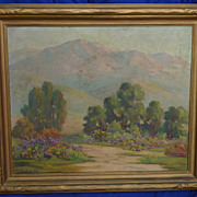 California art impressionist plein air landscape oil painting by listed artist Alice M. Tingey