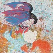 Original silkscreen print by listed Israeli artist SHRAGA WEIL (1918-2009)