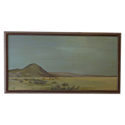 California plein air art desert landscape painting by artist  A. Anderson