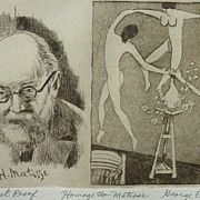 Homage to Henri Matisse quality etching by artist George Crionas