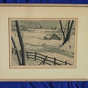 Associated American Artists pencil signed etching and aquatint by listed American artist SAMUEL L. MARGOLIES (1897-1974)