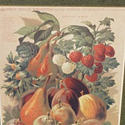 Framed decorative art for the kitchen offset print after chromolithograph