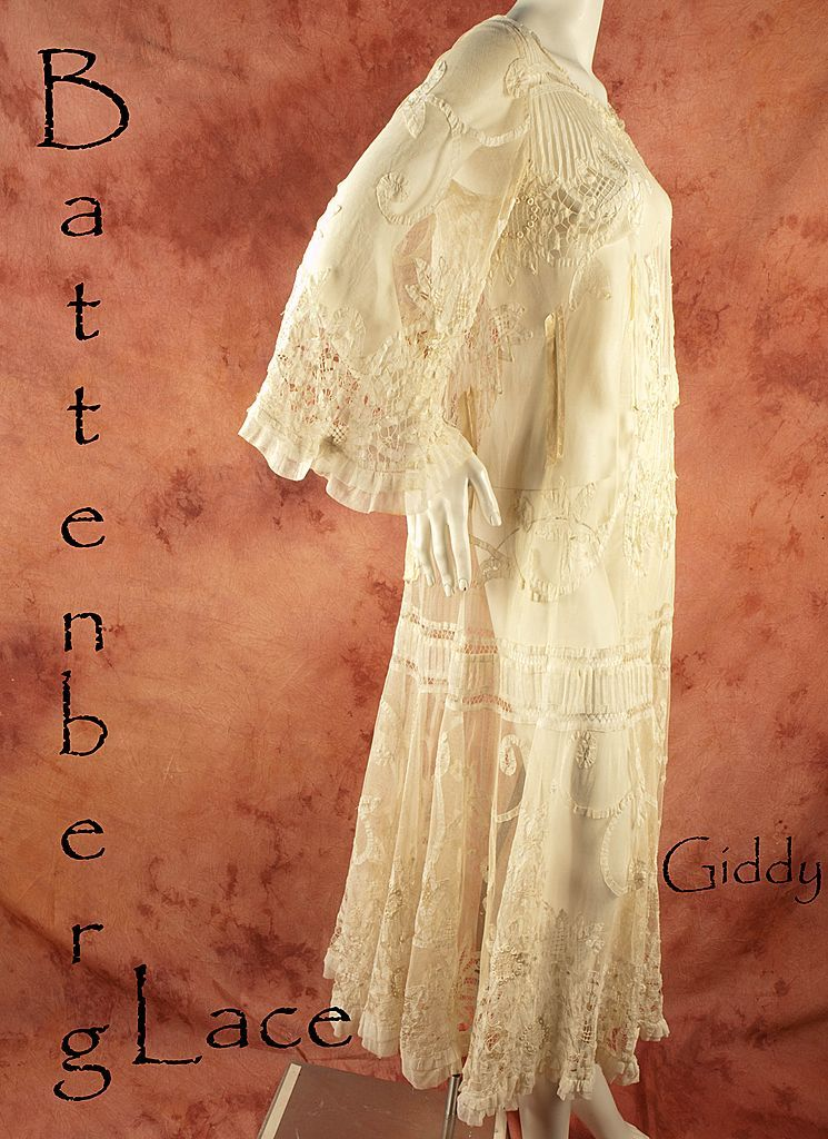Ethereal Battenberg Lace and Tulle Dress, circa 1915