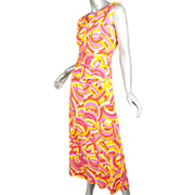 Christian Dior Paris 4 pc Jersey Psychedelic  Ensemble ca 1968
