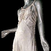Beautiful 1930's Rayon Satin Bias Cut Gown