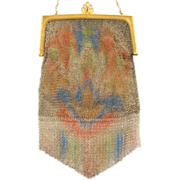SOLD Whiting and Davis Dresden Mesh Purse 1920's