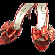 SOLD 1970's Halston Heels 8.5 Italian Shoes