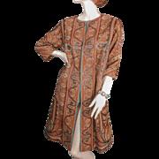 SOLD Beaded 1950's  ca 1860's Paisley Shawl Coat