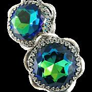 Schiaparelli Colors of  Tourmaline Earrings ca 1960's