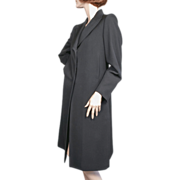 1990's Costume National Italy Black Laine Wool Coat