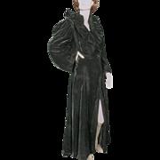 1930s 1940s Velvet Opera Coat Sublime Style Detail