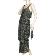 1920s Beaded Dress Gown Purse Original Photo TLC