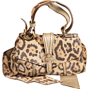 Valentino Caravan Leopard Print Pony Purse Handbag and Belt Reversible