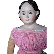 "Amazing 34"" RARE !! Antique Original Greiner Doll With Provenance"