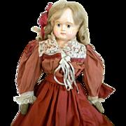 SALE Antique Sonneberg Paper Mache Doll