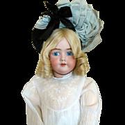 SALE Fabulous Vintage Doll/ Child Bonnet in Black Straw