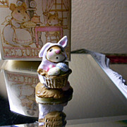 Wee Forest Folk Lavender Easter Bunny M-82 Retired