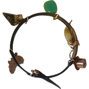 9kt Gold African Souvenir Charm Bracelet