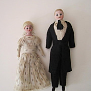 SALE PENDING Evelyn Ackerman estate, Fine all-original Dollhouse Dolls