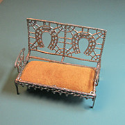 SOLD Antique Soft Metal Settee