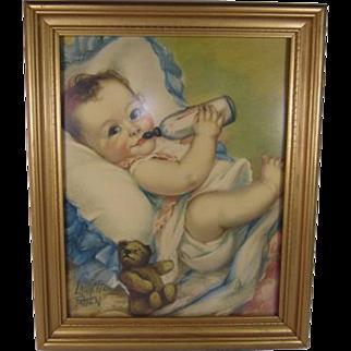 SALE Mothers Darling Calendar Picture by Laurette Patten