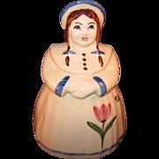 Shawnee Dutch Girl (Jill) Cookie Jar w/ tulip