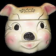 "Vintage Cardinal USA ""Porky Pig"" Cookie Jar"
