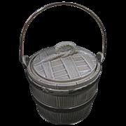 """Vintage Nelson McCoy Cookie Jar """"Oaken Bucket"""""""