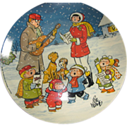 SALE Vintage Christmas Collector Plate, Family Circus, by Bil Keane