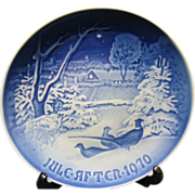 Vintage Bin & Grondahl 1970 Christmas Plate