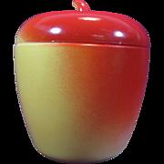 SOLD Vintage Hazel Atlas Apple Milk Glass Jam Jar
