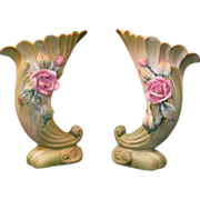 SALE Pair of Lefton Cornucopia Vases